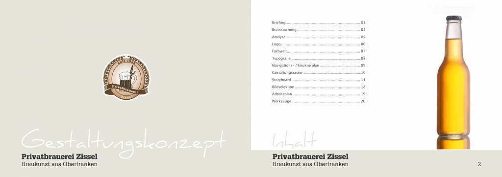 """Privatbrauerei Zissel"" / Corporate Design / 2010."
